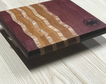 Staggered Purple Heart Cutting board