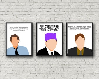 ALL 3 PRINTS - The Office, Jim Halpert, Michael Scott, Dwight Schrute, Digital Download, Funny quote, tv sitcom, Printables, Christmas Gifts