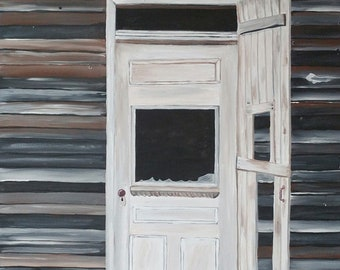 Deserted, Acrylic painting on canvas