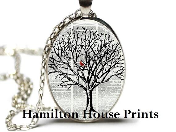 Cardinal in tree dictionary art print pendant dictionary aloadofball Choice Image