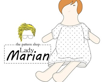 Lady Marian Rag Doll Sewing Pattern