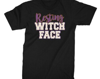 Halloween T Shirt, Halloween TShirt, Halloween T Shirts for Women, Resting Witch Face, Halloween Shirt, Womens Halloween Shirt.