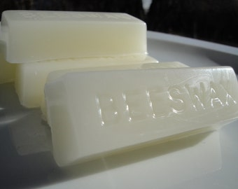 100% Pure Beeswax Block | White Beeswax | Hand poured 1oz Bar | Gifts under 20