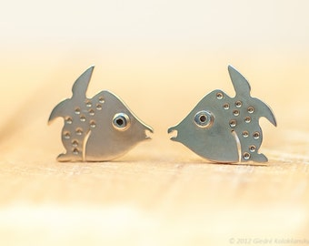 Marine FISH Stud Earrings Sterling Silver Mini Zoo