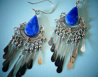 Ethnic Earrings / Boho Earrings / Ethnic Jewelry / Gypsy Earrings / Boho Jewelry / Blue Earrings / Drop Earrings / Dangle Earrings / blue
