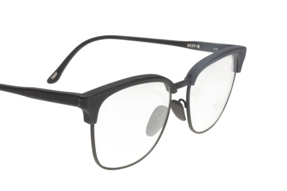 Kador 100% black clubmaster eyeglasses frames hand made in