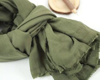 Double Gauze Fabric Khaki By The Yard