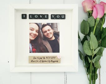 Anniversary gifts for boyfriend etsy uk boyfriend gift girlfriend giftgifts for him gifts for heranniversary frame negle Images