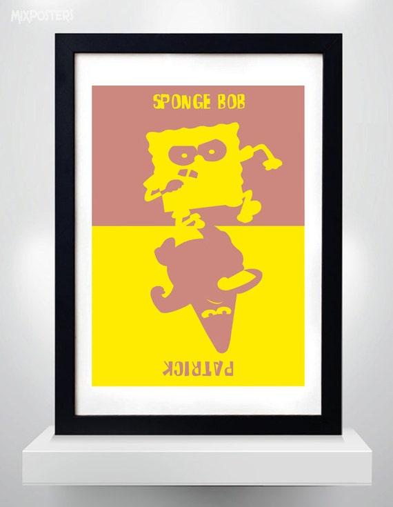 SPONGEBOB SQUAREPANTS & PATRICK Wall Art Print Cartoon Poster