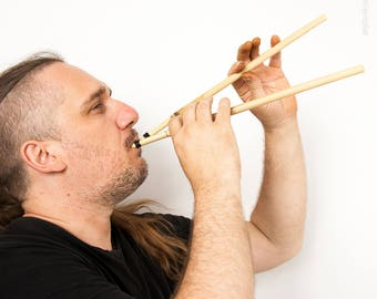 Aulos 'Dorian'. Wind instrument of Ancient Greek music. (auloi, tibia, avlos)