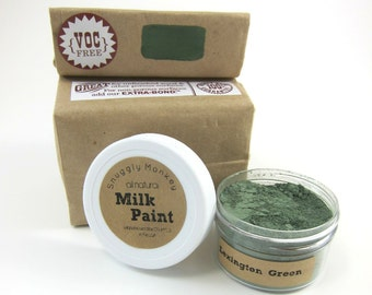 Green Milk Paint - Non-toxic All Natural Paint Perfect for Unfinished Wood Projects- Lexington Green