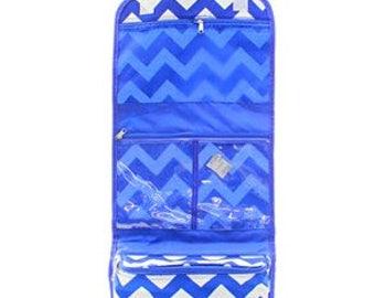 Personalized Cosmetic Bag, Royal Hanging Cosmetic Bag, Over the door Cosmetic Bag, Cosmetic orginizer, Cosmetic, Organizing Bags,Chevron bag
