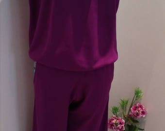 Jumpsuit, Purple coverall despicable, women's clothing, Jumpsuit, women's Jumpsuits & Rompers, Gift Idea, Womens romper, purple rupture, confortable break