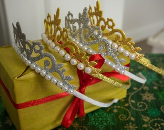 Christmas crown accessory on the head