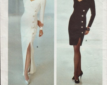 Vogue 2596 / Vintage Designer Sewing Pattern By Bellville Sassoon / Evening Dress / Gown / Sizes 6 8 10