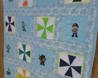 Pirate baby quilt