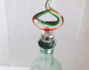 Hand Blown Crystal Glass Bottle Stopper