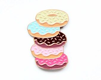 Doughnuts Enamel Pin - Lapel Pins for Erin Condren Life Planner Lovers