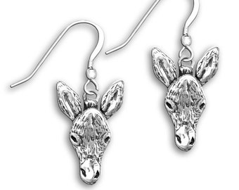 Sterling Silver Donkey Earrings
