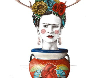 Frida in a pot - Giclée (fine art) print