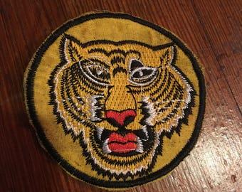 60s 70s vintage tiger patch tattoo rock n roll Kolbi Jean
