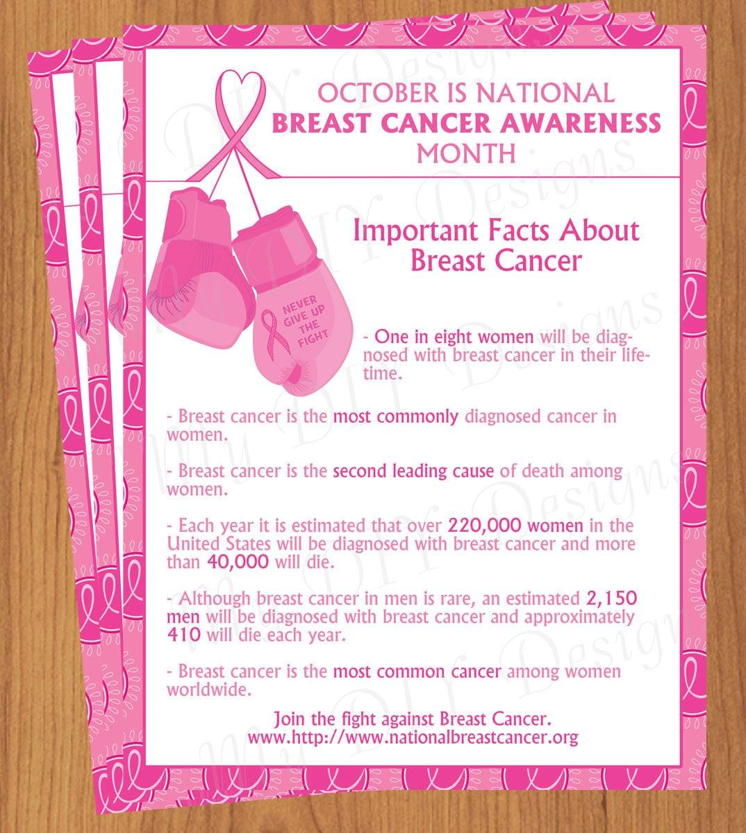 DIY Do-It-Yourself Breast Cancer Awareness Flyer Editable
