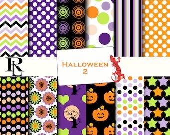 Halloween Digital Paper Pack - Halloween Digital Background - Paper background - Halloween paper pack - paper scrapbooking