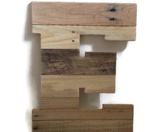 "20"" wood letter, Reclaimed pallet wood, Rustic Wood Letter, Rustic Home Decor, Rustic Wedding Decor, Rustic Home Decor, LARGE wood letter"