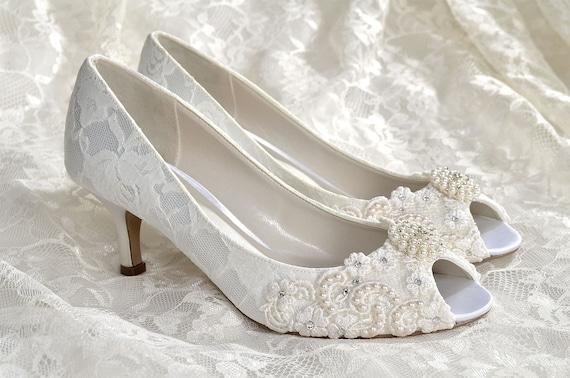 Woman's Lace colorful Wedding High-Heel Shoes Bridal Pumps Shoes(0 0)