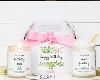 Happy Birthday Gift Set - Crystal Label | Girl Friend Birthday Gift | Best Friend Birthday Gift | Sister Gift | Gift for her | Candle Gift
