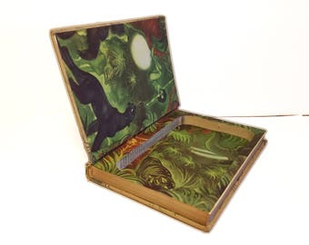 Hollow Book Safe The Jungle Books Kipling Cloth Bound vintage Secret Compartment Keepsake Hidden Security Box