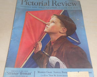 Pictorial Review combined with Delineator  March 1938