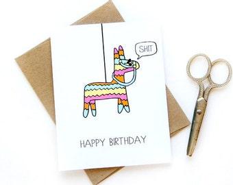 Funny Birthday Card - Pinata Card