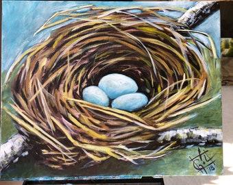Robin's Nest - 16 x 20