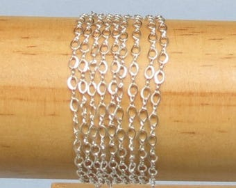 Sterling Chain - 1 Foot - Sterling Silver Chain - Figure 8 - 3.2x2.1mm