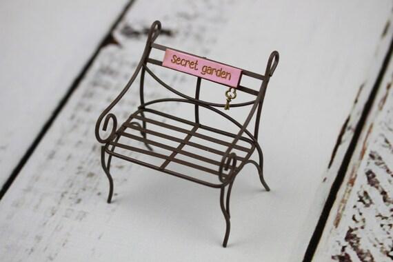 Fairy Garden Bench Furniture Secret Garden miniature accessory