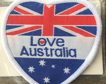 Love Australia Vintage Travel Souvenir Patch - New in Original Package