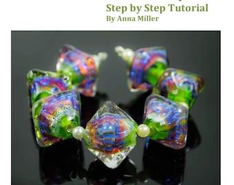 Rainbow Crystals, lampwork beadmaking tutorial