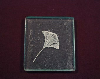 Gingko Leaf Fossil Tile