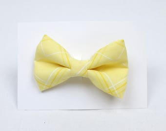 Soft Yellow Hair Bow