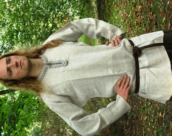 Medieval Shirt for reenactors, Rubacha, Middle Ages, Ruthenian costume, etno