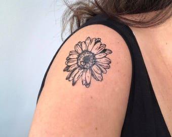 Daisy Flower - Temporary Tattoo