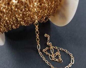 Gold TARNISH RESISTANT Dual Link Chain #2453:1SF