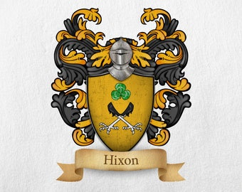 Hixon Family Crest - Print