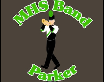 Marching Band Trumpet Decal #1