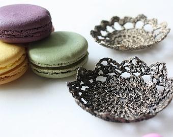 Brass Crochet Doily Bowl - Medium