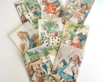 Edible Queen of Hearts x 8 Alice in Wonderland Set 2 Wafer Paper Cake Decorations Wedding Birthday Toppers Mad Hatter Tea Party Decor RTD