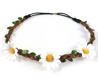 Daisy - white flower Crown headband