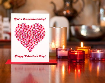 You're The Sweetest Thing Valentine Card - 100% Recycled Paper