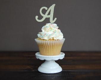 Personalized Initial Cupcake topper, cupcake topper birthday, birthday party, birthday decorations